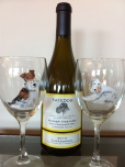 Rusty and Frosty with Tate Dog Chardonnay